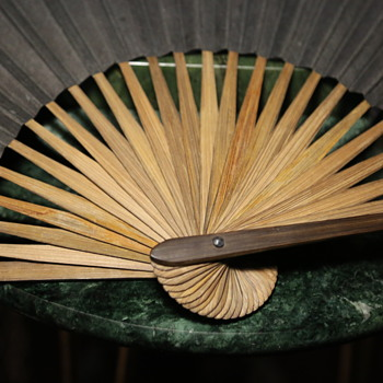Plain Black Paper and Nice Bamboo Fan - Asian