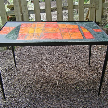 Help id Mid Century tile stacking tables Made in France for Saks 5th Ave? - Mid Century Modern