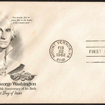 1982 - George Washington Stamp First Day Cover