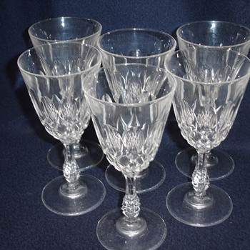 I would Love to know who made this set of wine glasses - Glassware