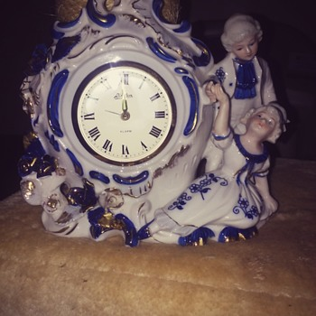 genuine porcelain Japanese alarm clock. - Art Pottery