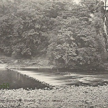 THE STEPPING STONES - BOLTON ABBEY c.1900 - Postcards