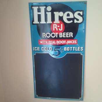 Hires Root Beer Menu sign - Advertising
