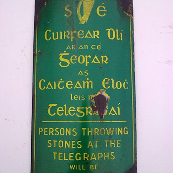 Telegraph pole signs.