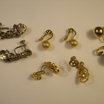 "More Vintage Costume Jewelry ""Earrings, Pin & Bracelet"