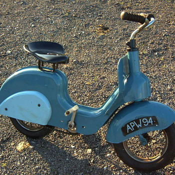 Vintage Vespa style scooter