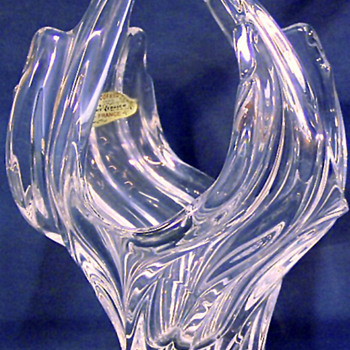 Art Verrier French crystal vase - Art Glass