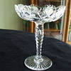 "GUNDY-CLAPPERTON COMPANY of Toronto, Canada 7 3/4"" American Brilliant Cut Glass HOBSTAR COMPOTE"
