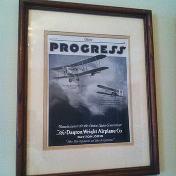 1918 Flying Magazine Advertisement and Cover Page - Paper