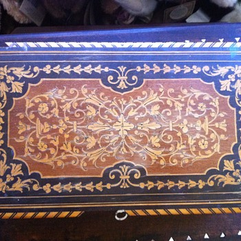 wooden jewlery box very ornate with inlay  - Fine Jewelry
