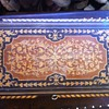 wooden jewlery box very ornate with inlay