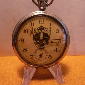 Beacon Shoes Advertisement Pocket Watch