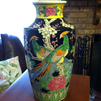 Old Asian Black Vase...need help!  - Asian