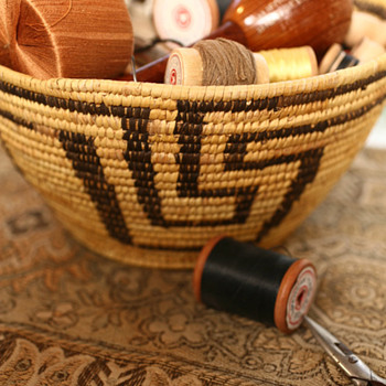 Grandmother&#039;s Indian Sewing Basket - Native American
