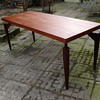 teak or walnut table