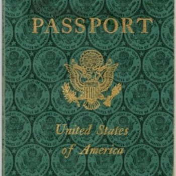 US passport 1959 with East German visa - Cold War - Paper