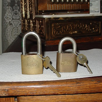 Best Lock Padlocks...Chevrolet and Ford Logos...With Keys - Tools and Hardware