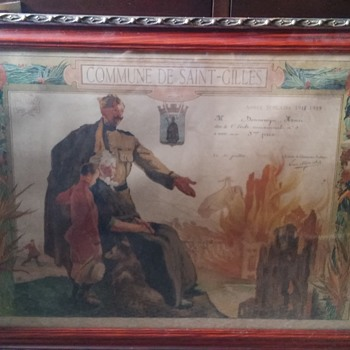 WW1 Litho M. Langaskens  - Visual Art