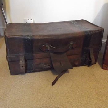 old travel trunk - Furniture