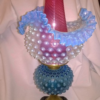 Hobnail Oil Lamp