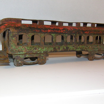 Old Pressed Steel Railroad Train or Trolley Car Unknown Maker?