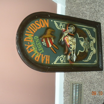 Harley Davidson Sign Handpainted - Motorcycles