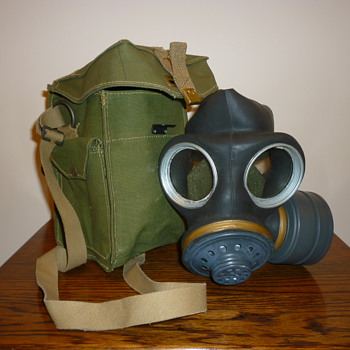 Unused British Cold War gas mask from the 1950's/60's