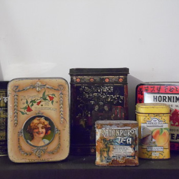 Mis cajas hasta la fecha (tea tins)  - Advertising