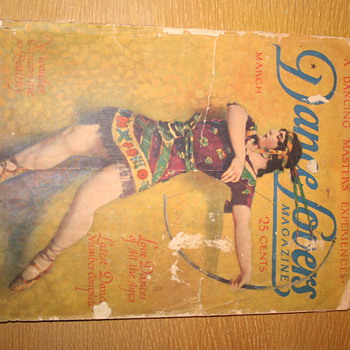 "March 1924 Dance lovers Magazine with ""Fokine"" Cover - Paper"