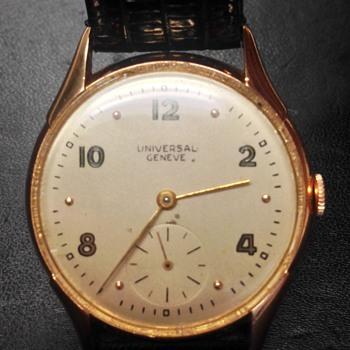 vintage Universal Geneve--solid gold