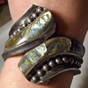 Sterling Taxco clamper bracelet.