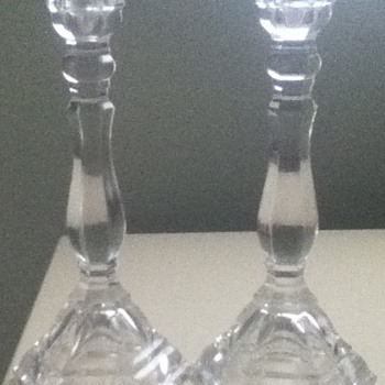 Tiffany &amp; Co Crystal Candleholders - Art Glass
