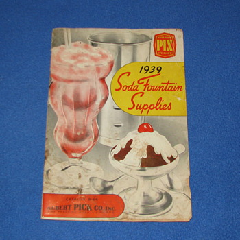 1939 SODA FOUNTAIN SUPPLIES CATALOG