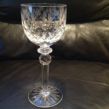 Crystal wine glass, 1 of several...