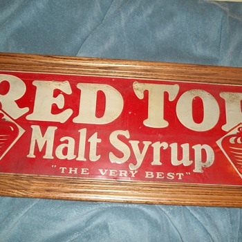 Red Top malt syrup - Signs
