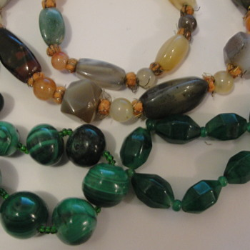Malachite Stone Plastic Jewellery - Costume Jewelry