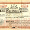 Early Lehigh Valley Railroad Stock Certificate