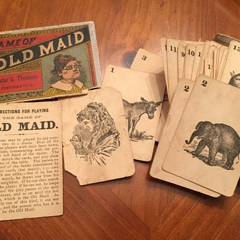 Black and White Game of Old Maid, Peter J Thomson-Publisher, Cincinatti Ohio