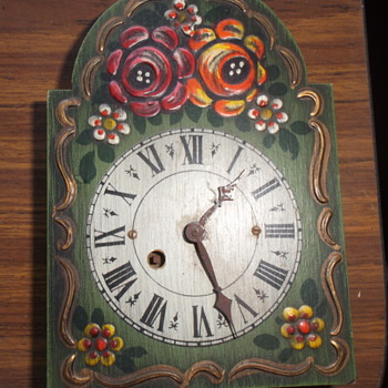 Cute wooden clock, made in West Germany - Clocks
