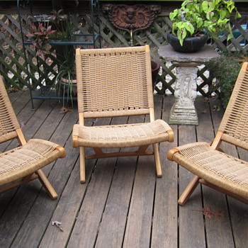 woven deck chairs - Furniture