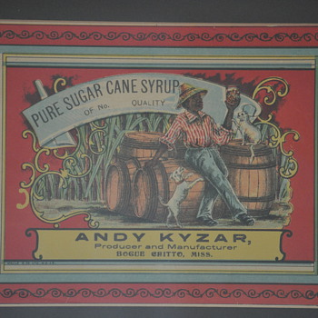 sugar cane label - Advertising