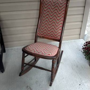 Sweet Bargello Nursing Rocker