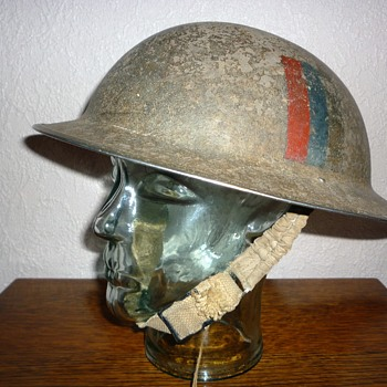 British WWII steel helmet.