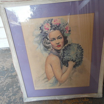 Storage Auction Find Beautiful Signed&Numbered Lithograph Copyrighted Camilla Lucan - Visual Art