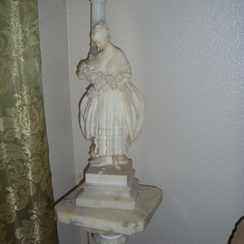 Marble Lady Lamp (1920s) - Lamps