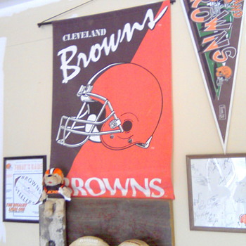 My Cleveland Browns Corner Deep In The Heart of Texas!