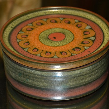 Item #1000 on CW!!  KMK Pottery Trinket Box - West German - 1980s - Lima Pattern. - Art Pottery
