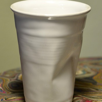 CRINKLED CUP BY ROB BRANDT for Haus. - Art Pottery