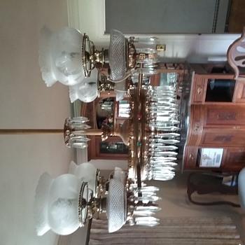 Oil chandelier