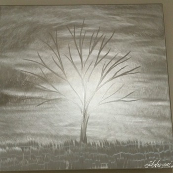 Nicholas Yust 12x12 metal tree art. :)  This is awesome. Oh yet another twist in art to me anyway. :) - Visual Art